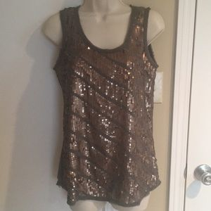 Sequined Loft tank top
